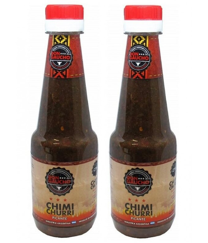 PACK 2 Don Gaucho Salsa Chimi Churri Picante 270ml T