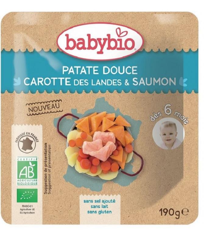Babybio Batata Doce Cenoura Salmão 190gr