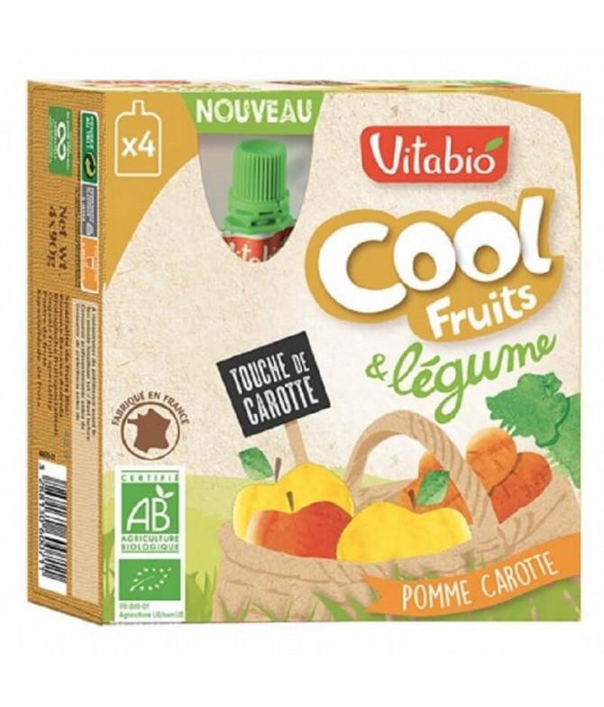 Vitabio Cool Fruits Legumes Maçã Cenoura 4x90gr