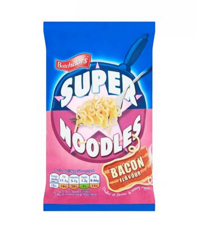 Batchelors Super Noodles Bacon 100gr