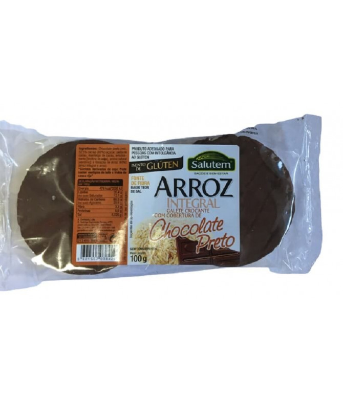 Salutem Galete Arroz Integral & Chocolate 100gr