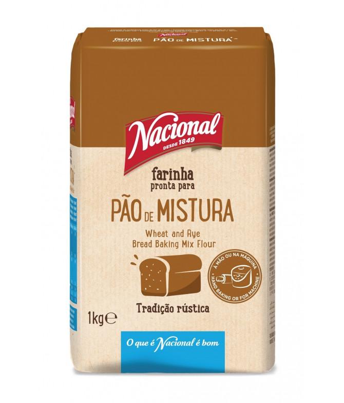 Nacional Farinha Pão de Mistura 1Kg