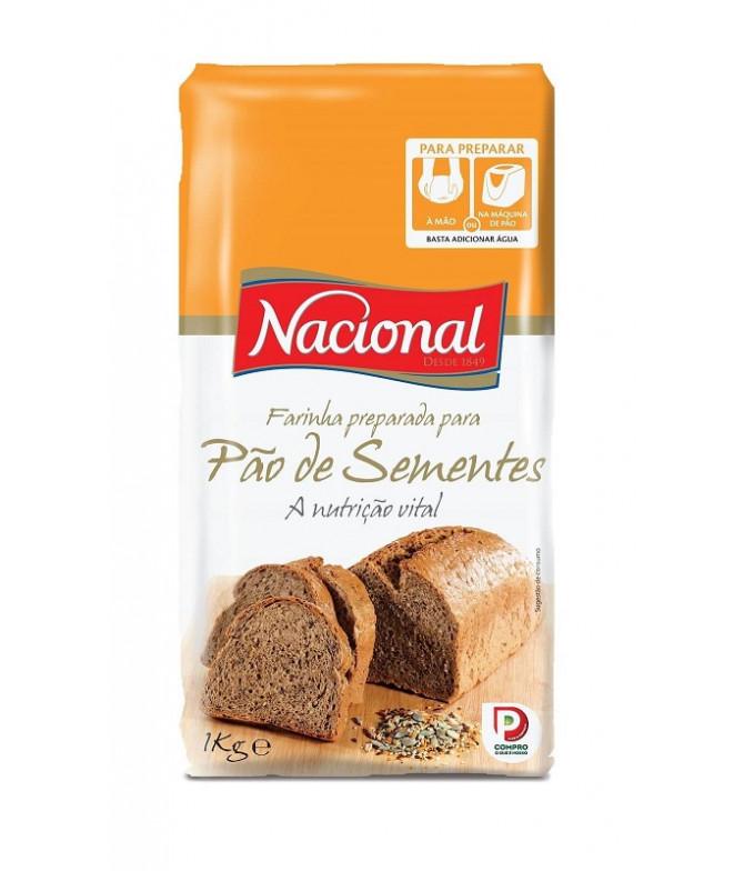 Nacional Farinha Pão Sementes 1Kg
