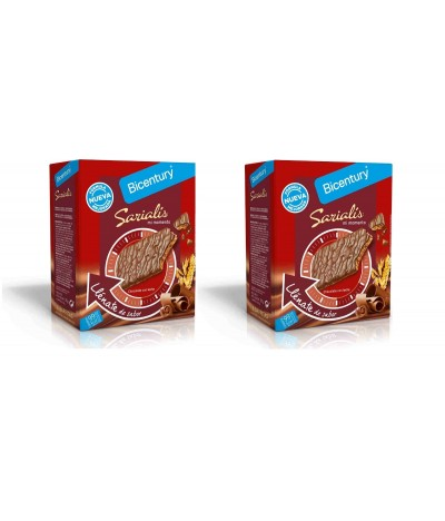 PACK 2 Bicentury Barrita de Cereais Chocolate de Leite Sarialis 100gr