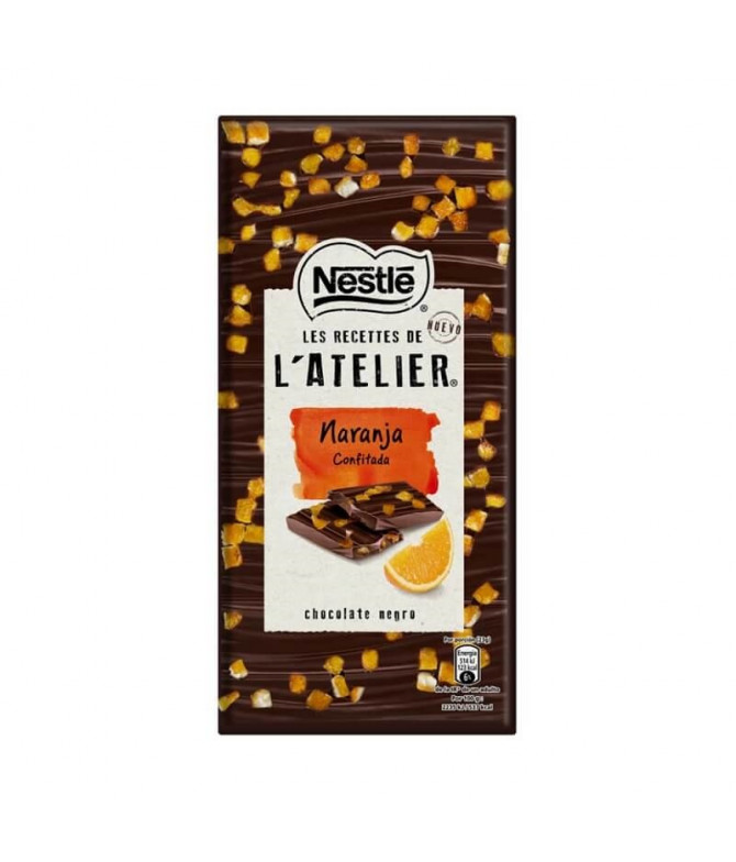 Nestlé L'Atelier Chocolate Negro Naranja 115gr T