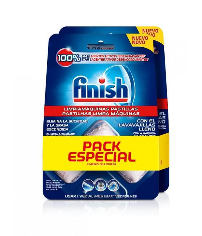 PACK 2 Finish Pastilhas Limpa Máquinas 3un