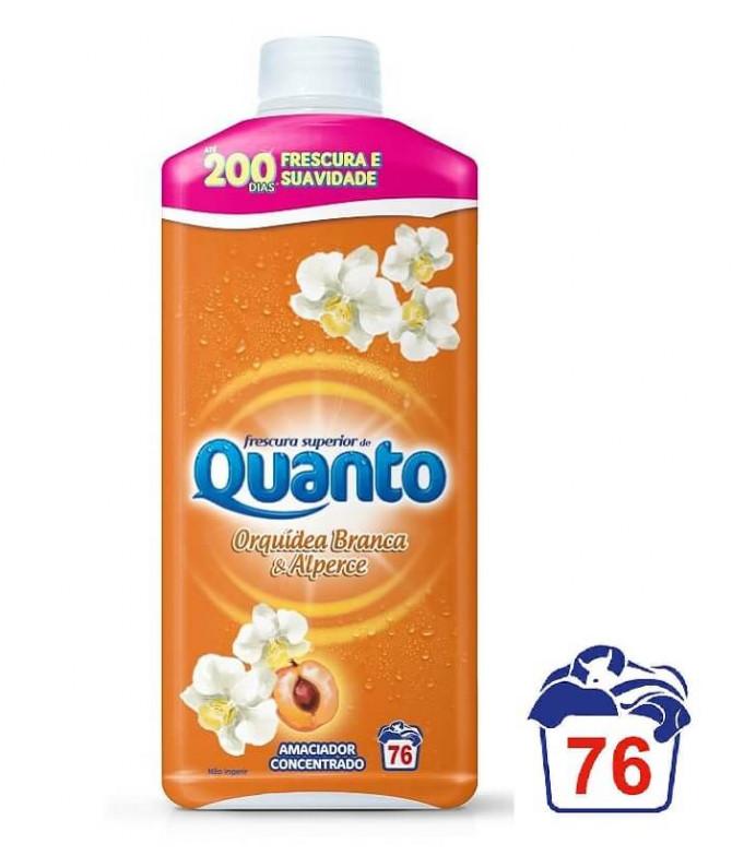 Quanto Amaciador Roupa Orquídea Branca Alperce 76un