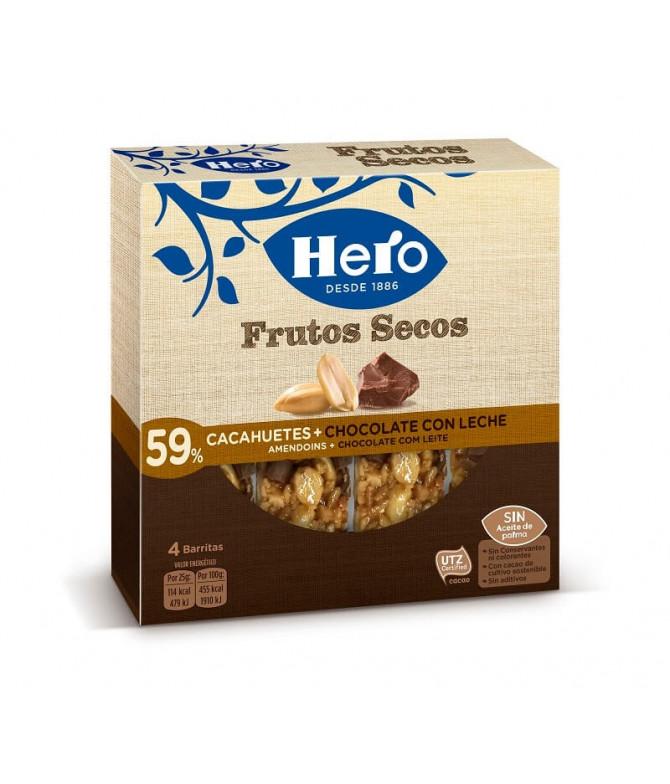 Hero Barrita Amendoim Choco Leite 4un