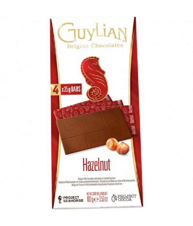 Guylian Tablete Chocolate Leite Avelãs 100gr