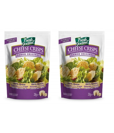 PACK 2 Fresh Gourmet Cheese Crips Original 20 gr