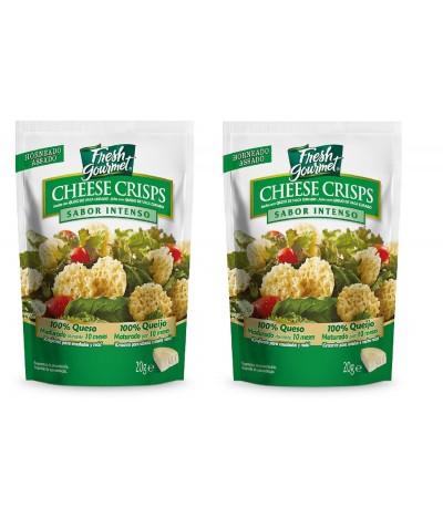 PACK 2 Fresh Gourmet Cheese Crips Intenso 20 gr