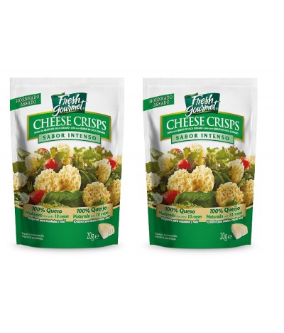 PACK 2 Fresh Gourmet Cheese Crisps Intenso 100% Queijo 20gr