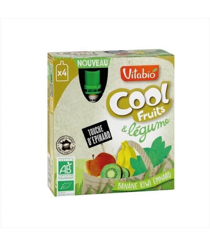 Vitabio Cool Fruits Plátano Kiwi Espinacas 4x90gr T