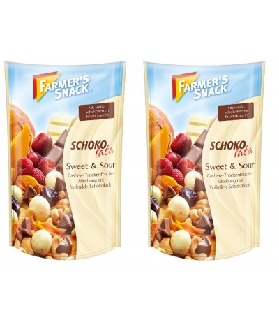 PACK 2 Farmers Snacks Mix de Frutos Secos com Chocolate e Manga 125gr