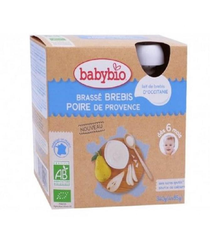 Babybio Snack Yogur & Pera 4x85gr T