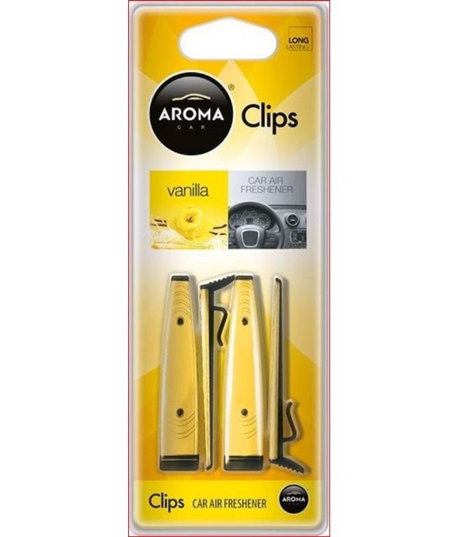 Ambientador Auto Aroma Car CLIPS Vanilla