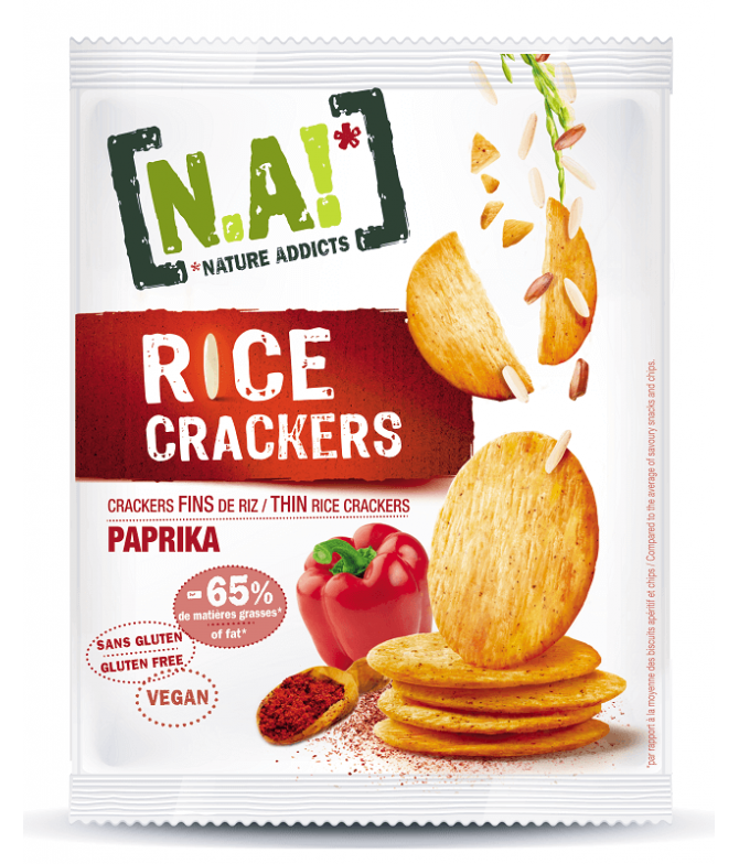 Nature Addicts Cracker Arroz Paprika 35gr