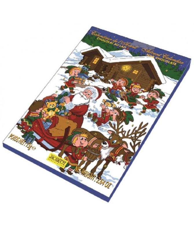 Jacquot Calendário Advento Natal Chocolate Leite 75gr