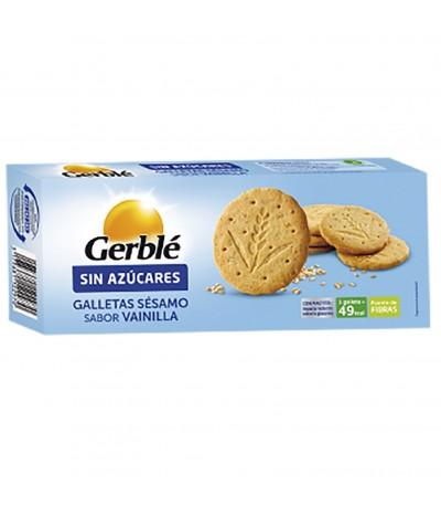 Galletas de Sésamo sabor a Vainilla SIN AZÚCARES Gerblé 132 gr