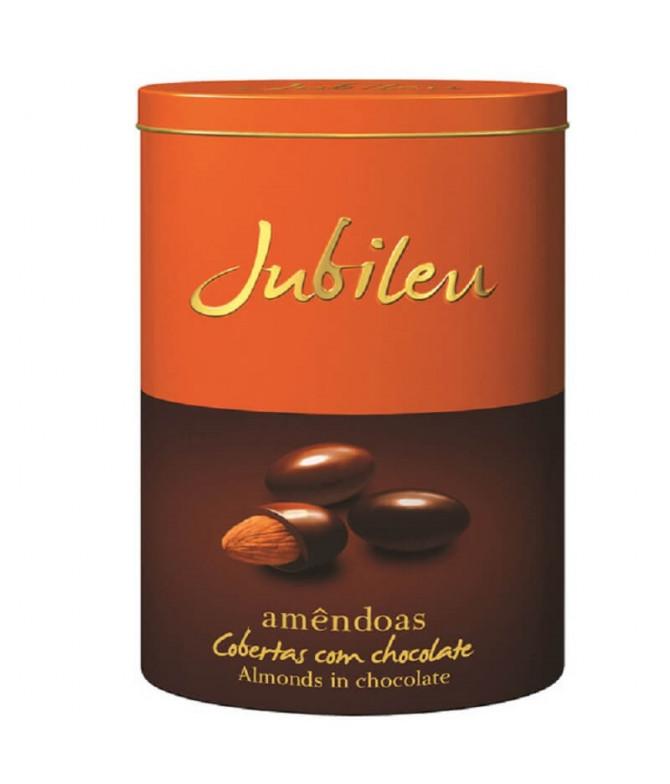 Jubileu Amêndoa Coberta Chocolate Lata 320gr