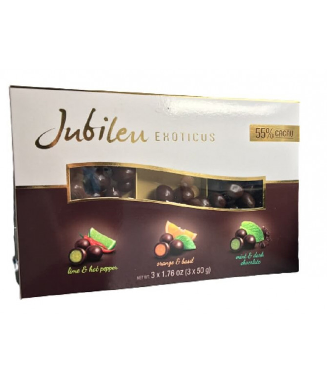 Jubileu Exoticus Lima Laranja Menta 3x50gr
