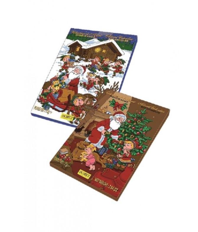 PACK 2 Calendário Advento Natal Chocolate Leite 75gr