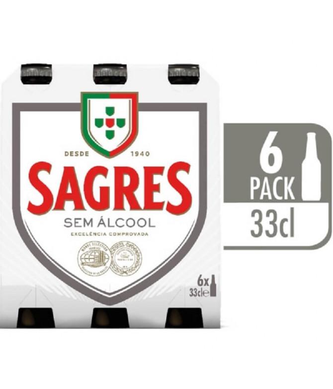 Sagres Cerveja Sem Álcool 6x33cl