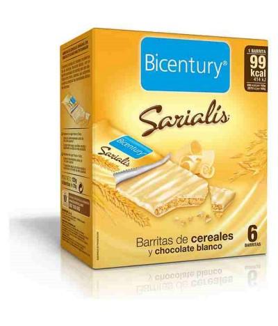 Bicentury Barrita de Cereais Chocolate Branco Sarialis 6un