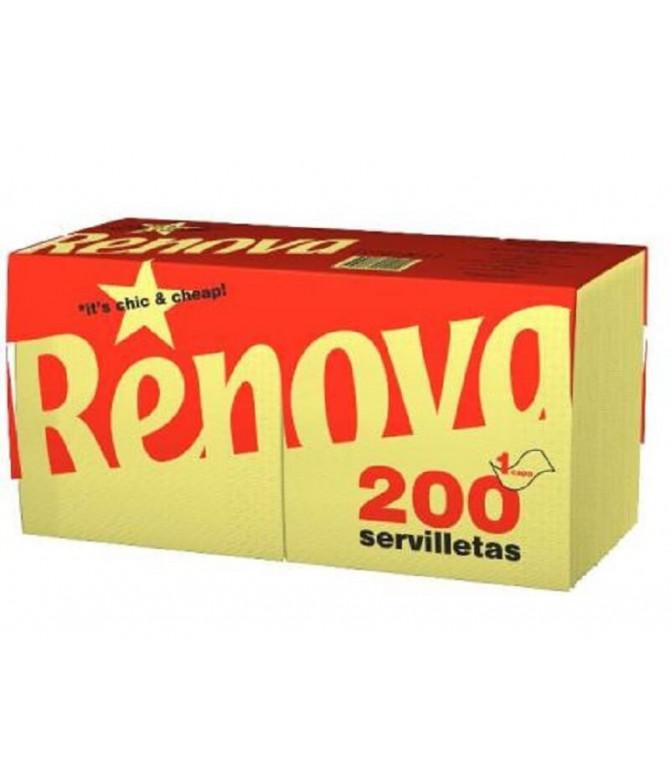 Renova Servilleta 1C AMARILLO 200un T