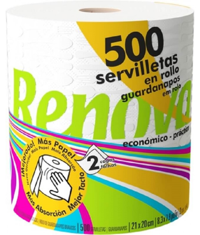 Renova Servilleta Rollo 2C 500un T
