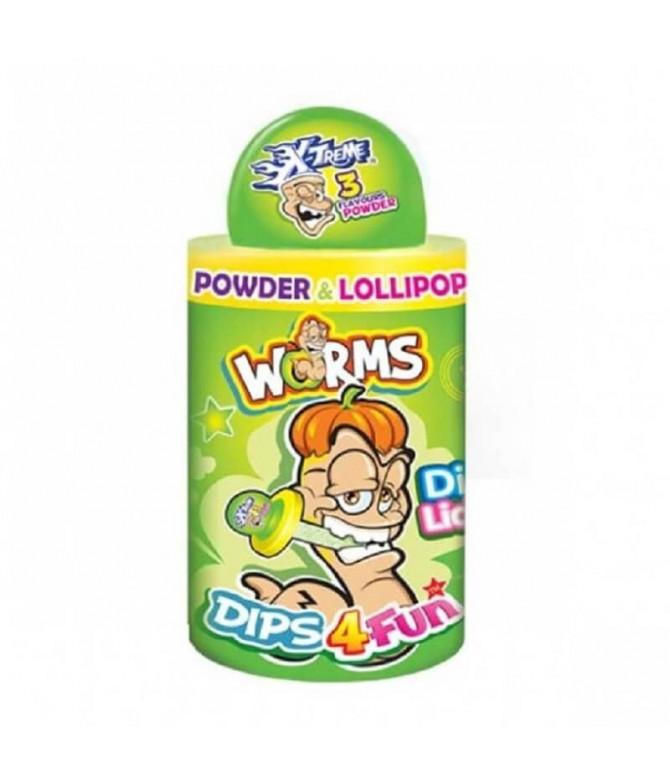 Worms Dips 4 Fun Lollipop 1un T