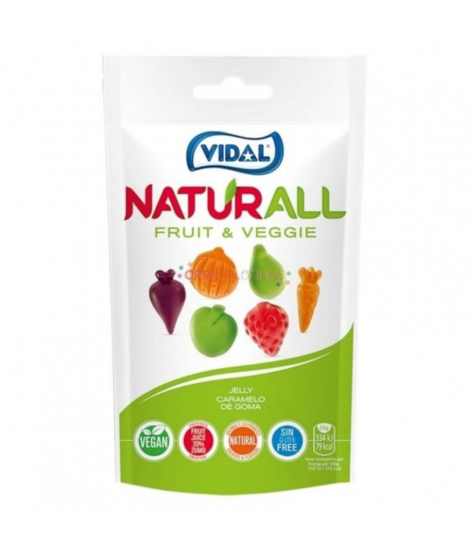Vidal Naturall Gominola Fruit Veggie 180gr T