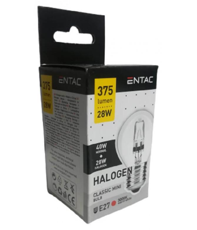 ENTAC Lâmpada Halogéneo Clássica Mini E27 28W 1un