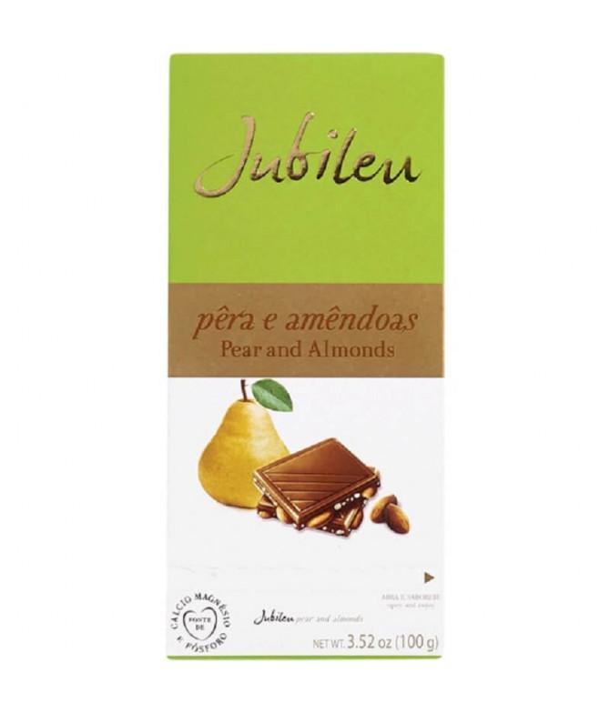 Jubileu Chocolate Leite Pêra & Amêndoa 100gr