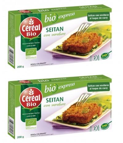 PACK 2 Céréal Bio Seitan com Verduras 200 gr