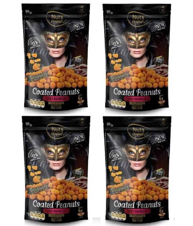 PACK 4 Nuts Original Amendoins Barbecue 125gr