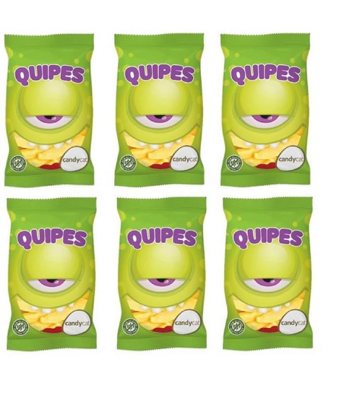 PACK 6 Quipes Gominolas Plátano Azúcar 100gr T