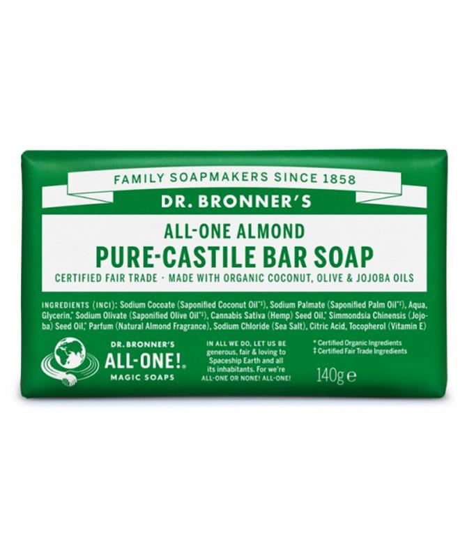 Dr Bronners Sabonete Amêndoa BIO 140gr