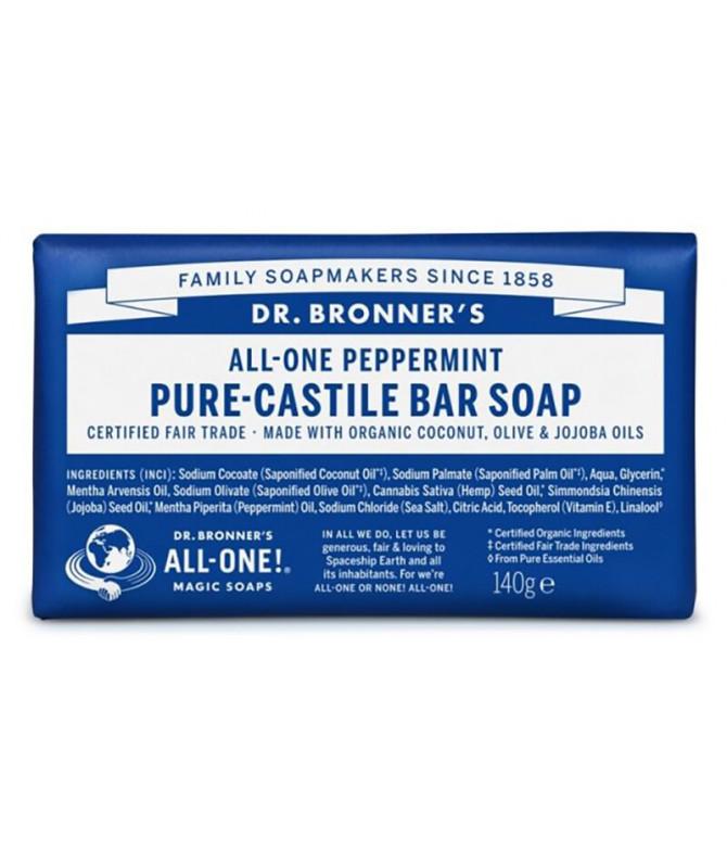 Dr Bronners Sabonete Hortelã-Pimenta BIO 140gr
