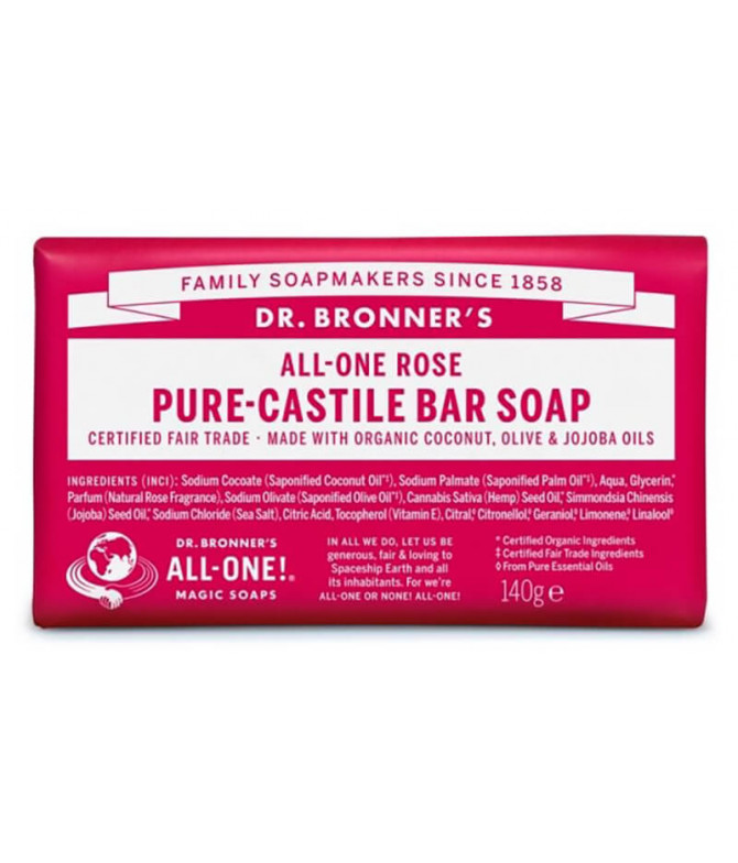 Dr Bronners Sabonete Rosa BIO 140gr