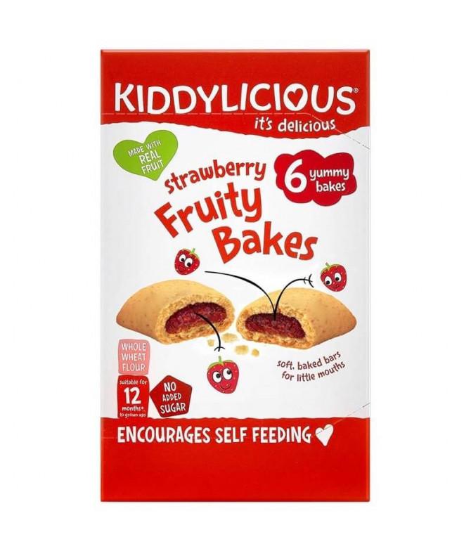 Kiddylicious Fruity Bakes Morango 6x22gr
