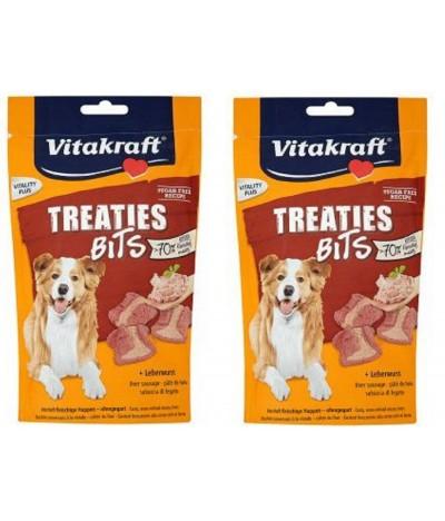 PACK 2 Vitakraft Treaties Bits de Paté de Hígado para Perro 120gr