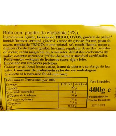 Kuchen Meister Bolo Baunilha Stracciatella 400gr