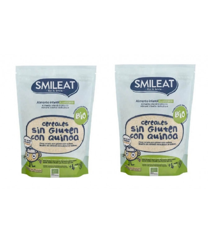 PACK 2 Smileat Papilla Cereales Quinoa 200gr T
