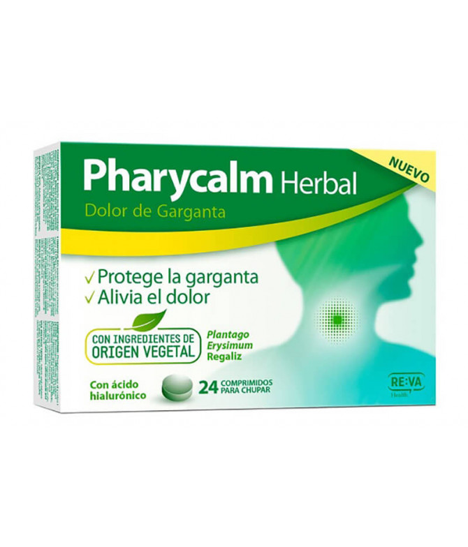 Pharycalm Herbal Suplemento GARGANTA 24un