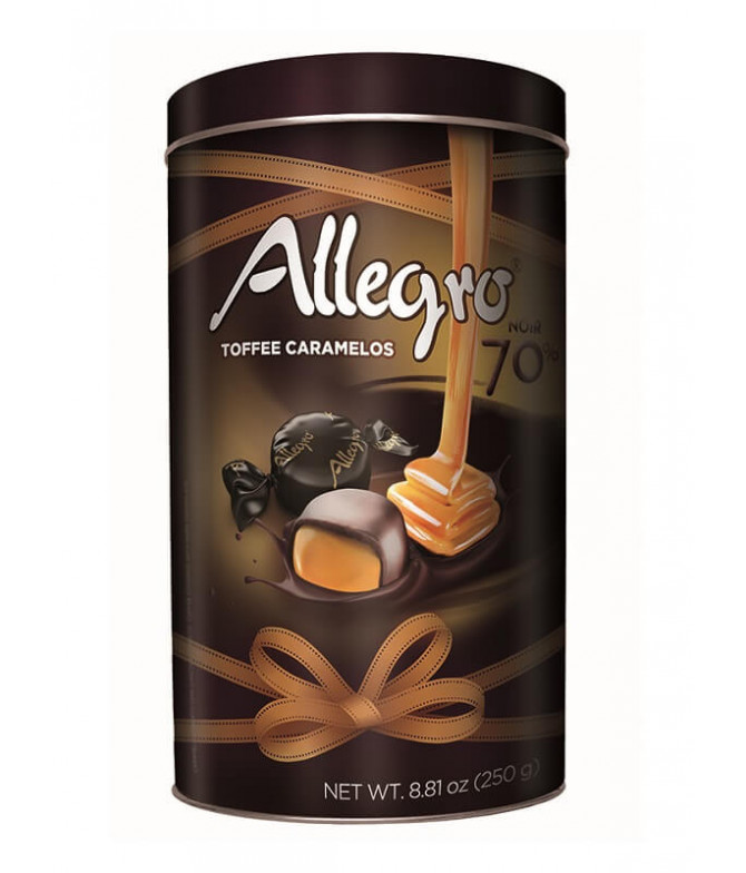 Allegro Toffee Caramelo Choc Negro 70% 250gr T