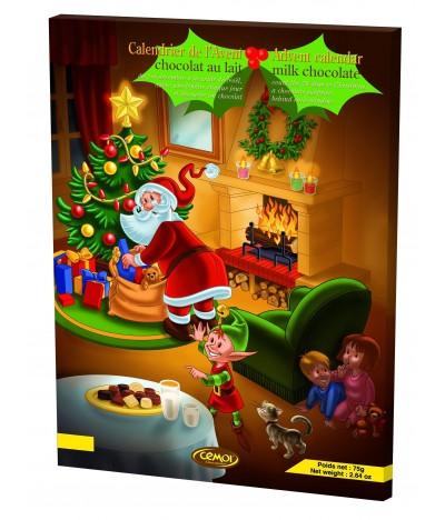 Calendário do Advento de Natal de Chocolate de Leite 75gr