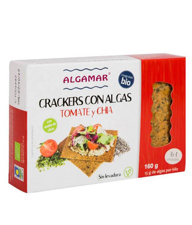Algamar Cracker Alga Tomate Chia BIO 160gr T