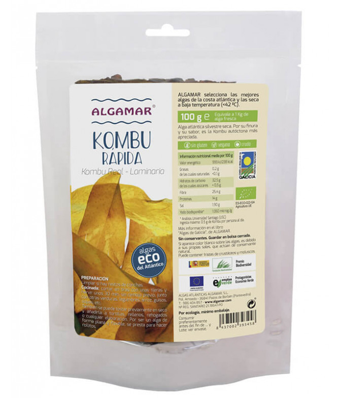 Algamar Alga Kombu Rápida BIO 100gr T