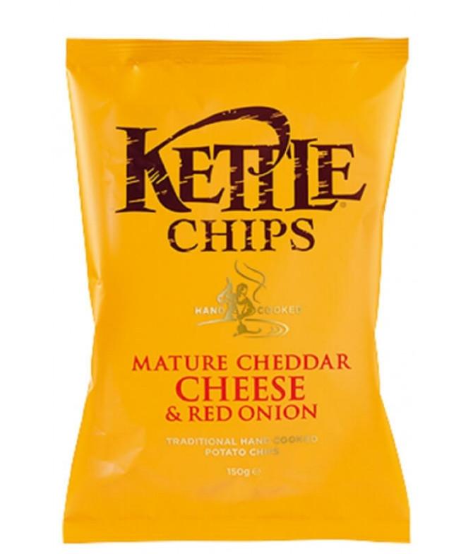 Kettle Patatas Queso Cheddar Cebolla 150gr T